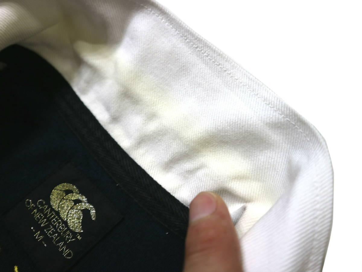 訳あり(薄汚れ)/良好!◆カンタベリー 刺繍ロゴ 綿100地 ラガーシャツ◆Mサイズ_画像9