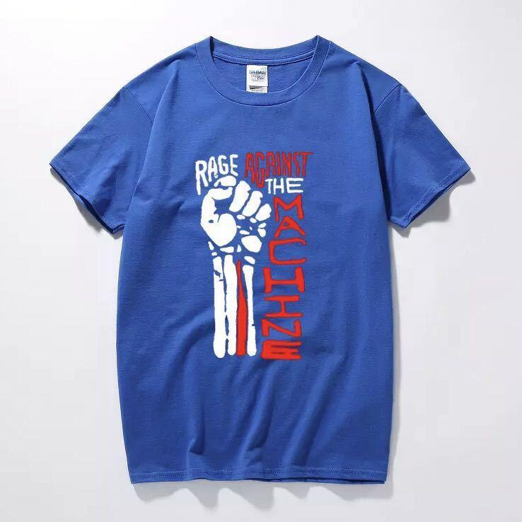 RAGE AGAINST THE MACHINE Tシャツ バンド バンT レイジアゲインストザマシーン Tee Tシャツ 半袖Tシャツ プリントTシャツ_画像4