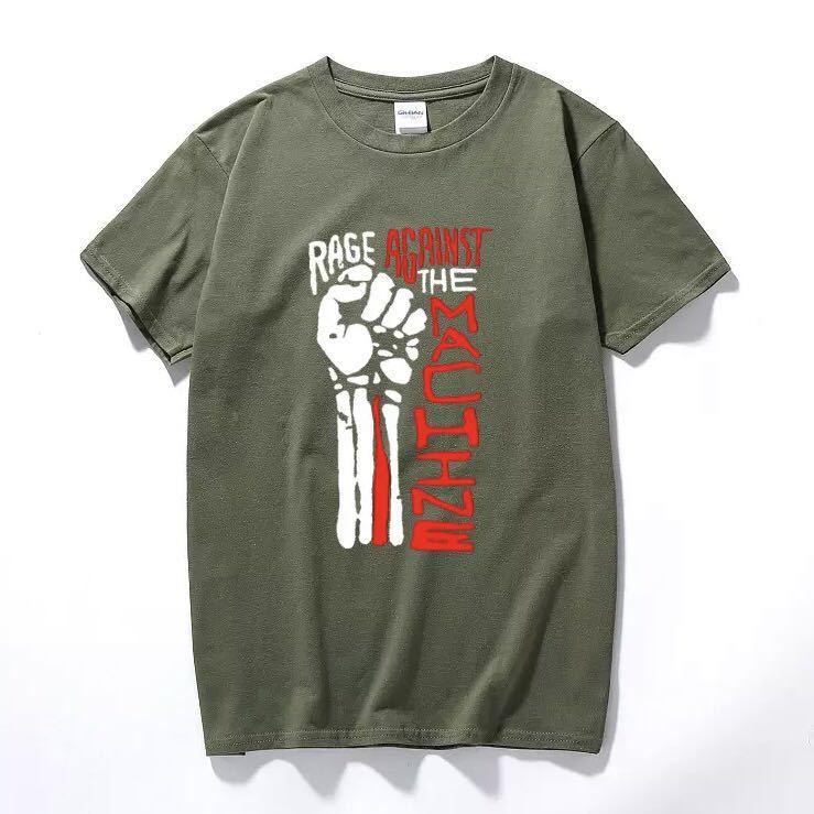 RAGE AGAINST THE MACHINE Tシャツ バンド バンT レイジアゲインストザマシーン Tee Tシャツ 半袖Tシャツ プリントTシャツ_画像8