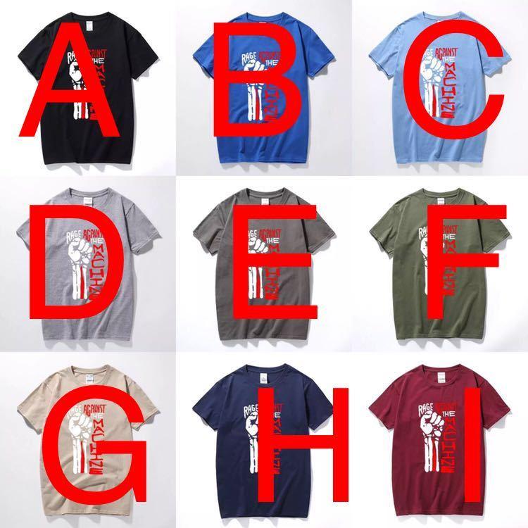 RAGE AGAINST THE MACHINE Tシャツ バンド バンT レイジアゲインストザマシーン Tee Tシャツ 半袖Tシャツ プリントTシャツ_画像3