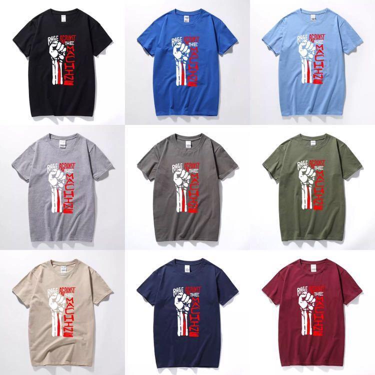 RAGE AGAINST THE MACHINE Tシャツ バンド バンT レイジアゲインストザマシーン Tee Tシャツ 半袖Tシャツ プリントTシャツ_画像2