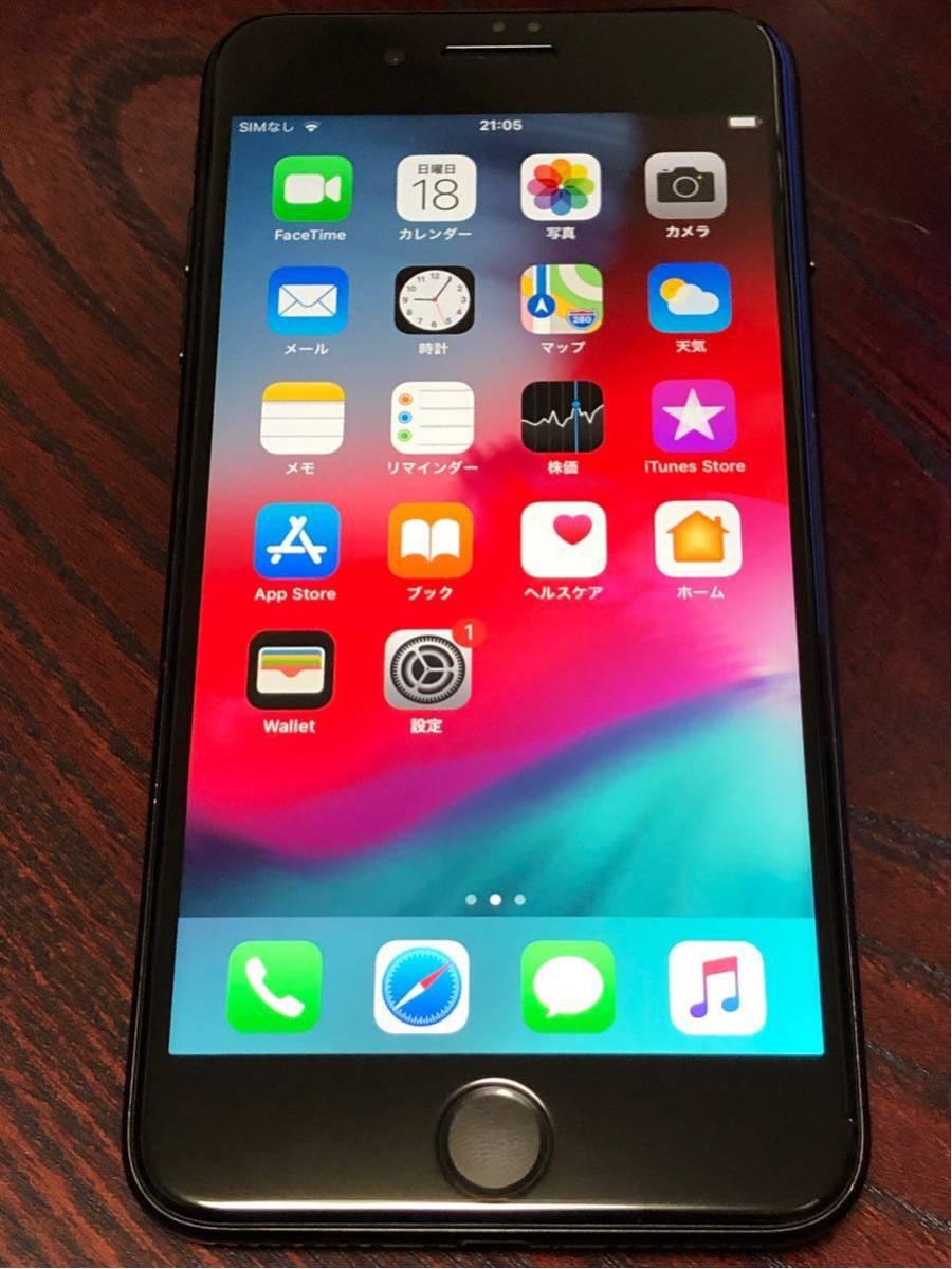 米国版 iPhone 7PLUS シャッター音無し A1661 128GB MN482LL/A SIMフリー 北米版 海外版 ブラック ios13.1.3更新済みです