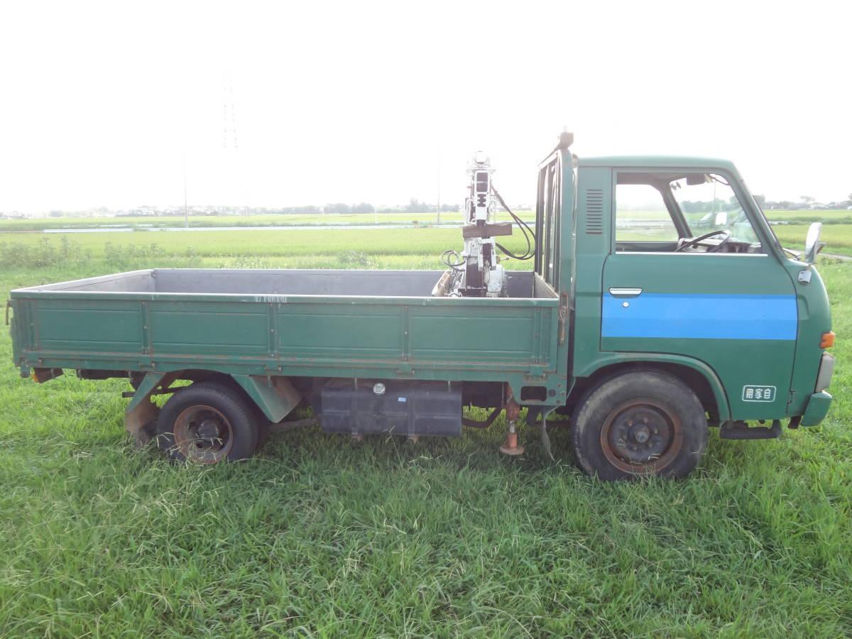 旧車 日産 クリッパートラック ユニッククレーン付き アトラストラックのご先祖 実動 書類有り 超貴重車_画像3
