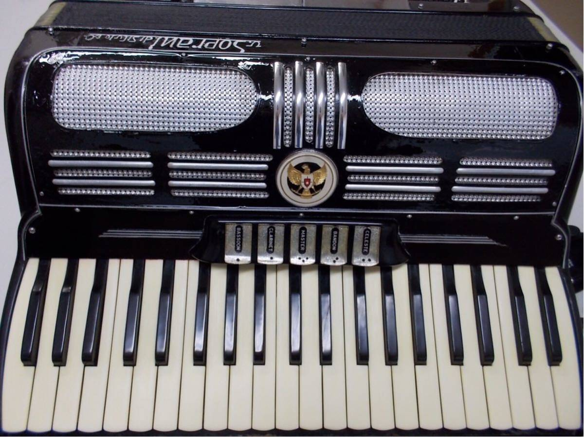 V.soprai.Silvi ano.recanti.3列41鍵盤120ベース蘇る、最高サウンド整備済みITALY製、流石名門最高のリード搭載_画像3