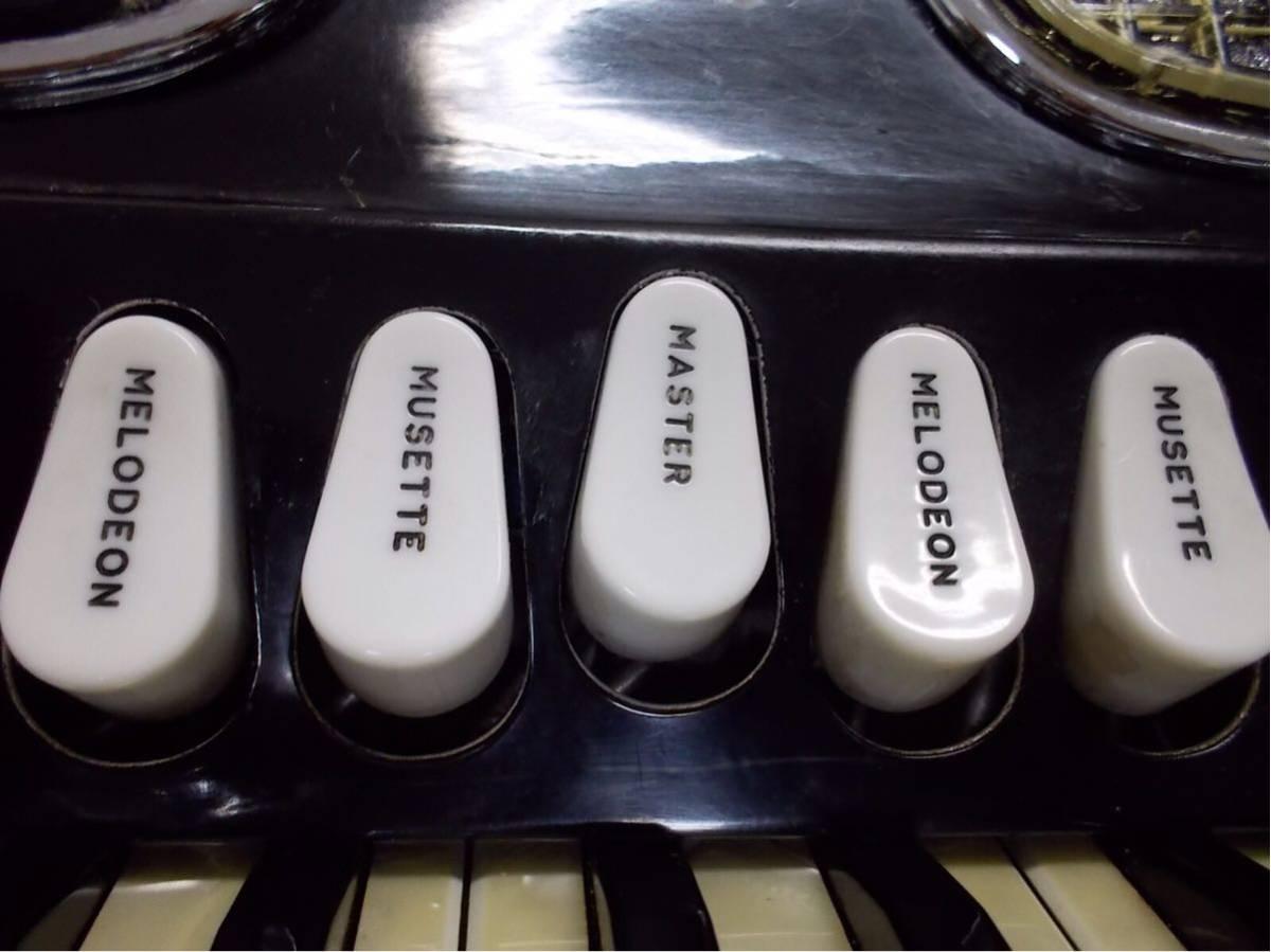 excelsior 400 3列 41鍵盤120ベースexcelsior 専門整備師による、整備アコ綺麗なアコ年代感じない美品良いサウンド_画像5