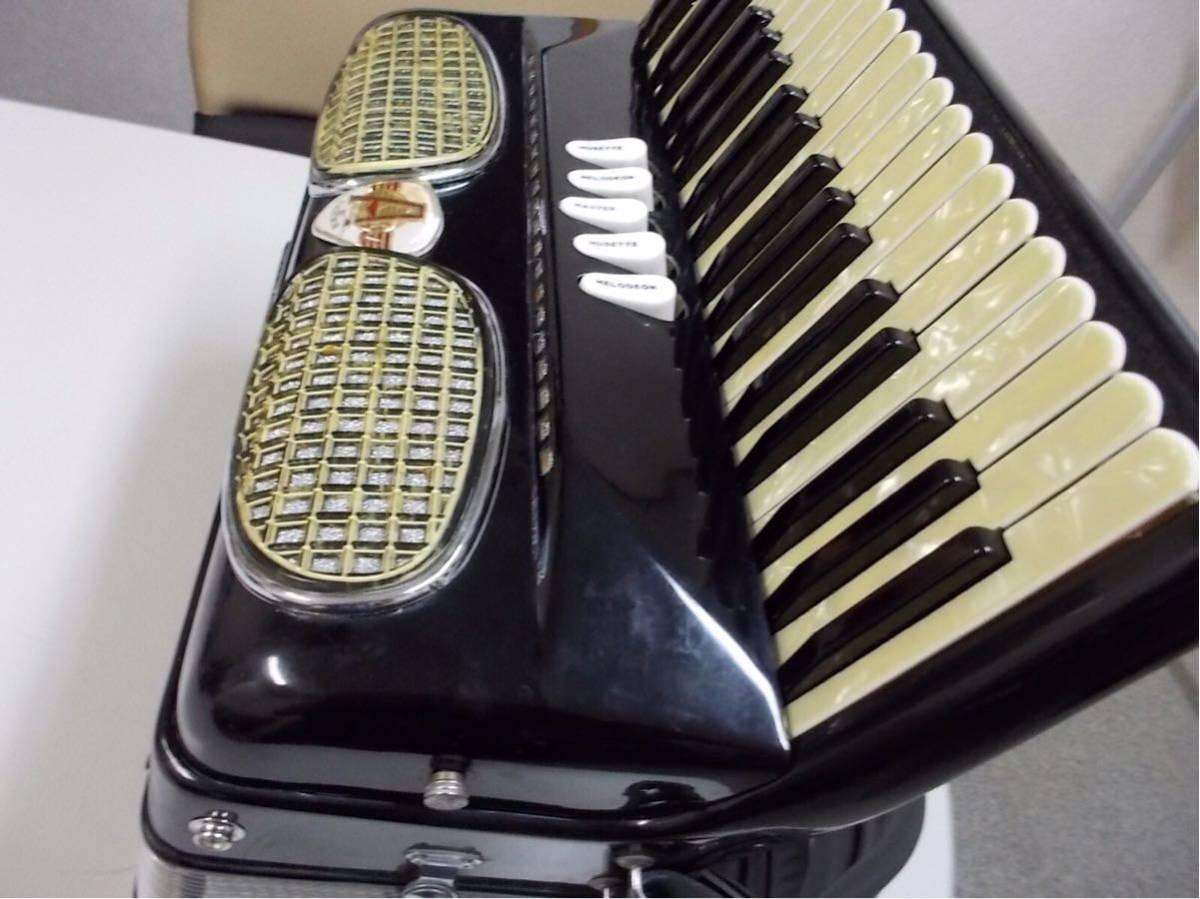 excelsior 400 3列 41鍵盤120ベースexcelsior 専門整備師による、整備アコ綺麗なアコ年代感じない美品良いサウンド_画像3