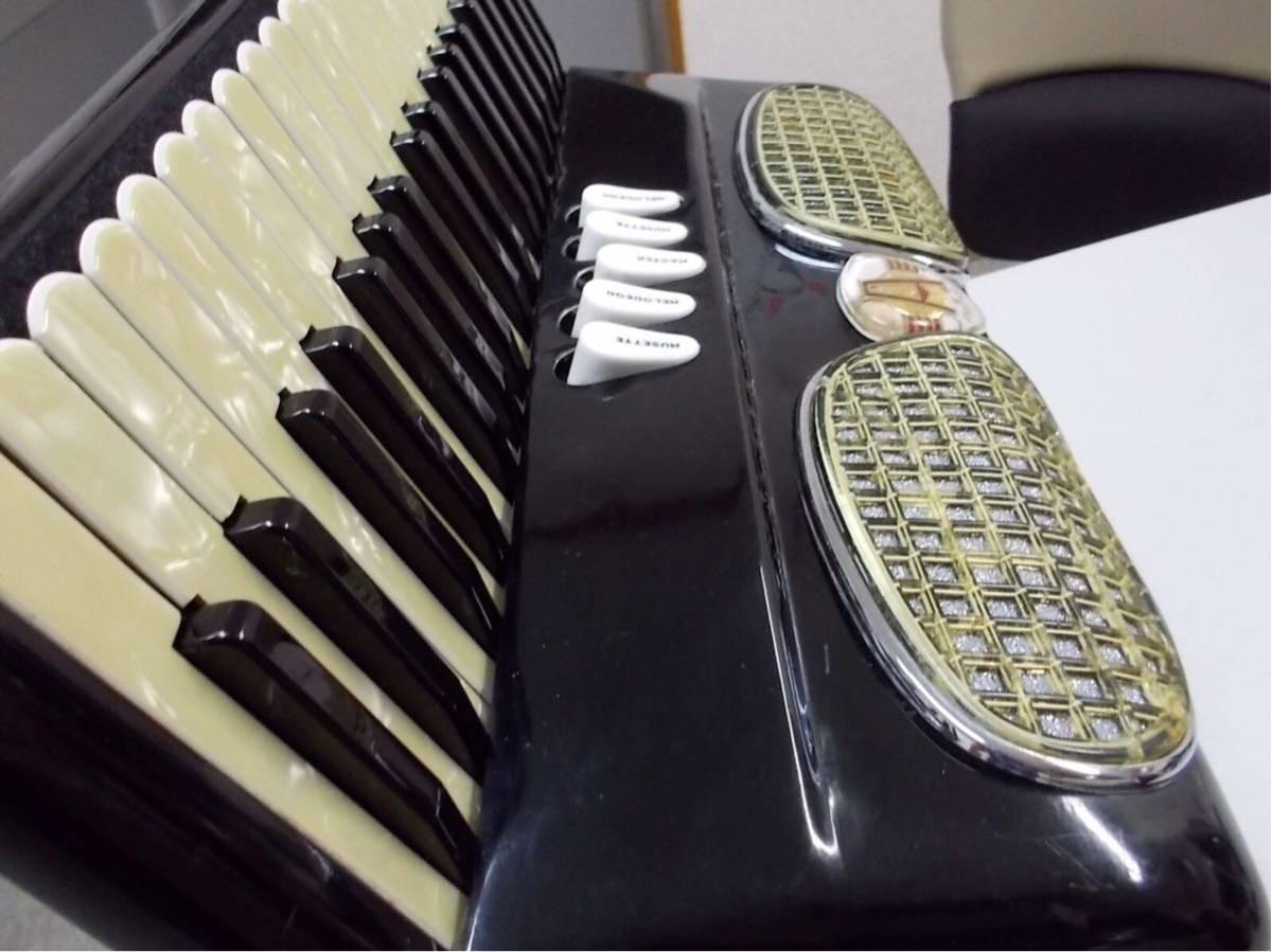 excelsior 400 3列 41鍵盤120ベースexcelsior 専門整備師による、整備アコ綺麗なアコ年代感じない美品良いサウンド_画像4