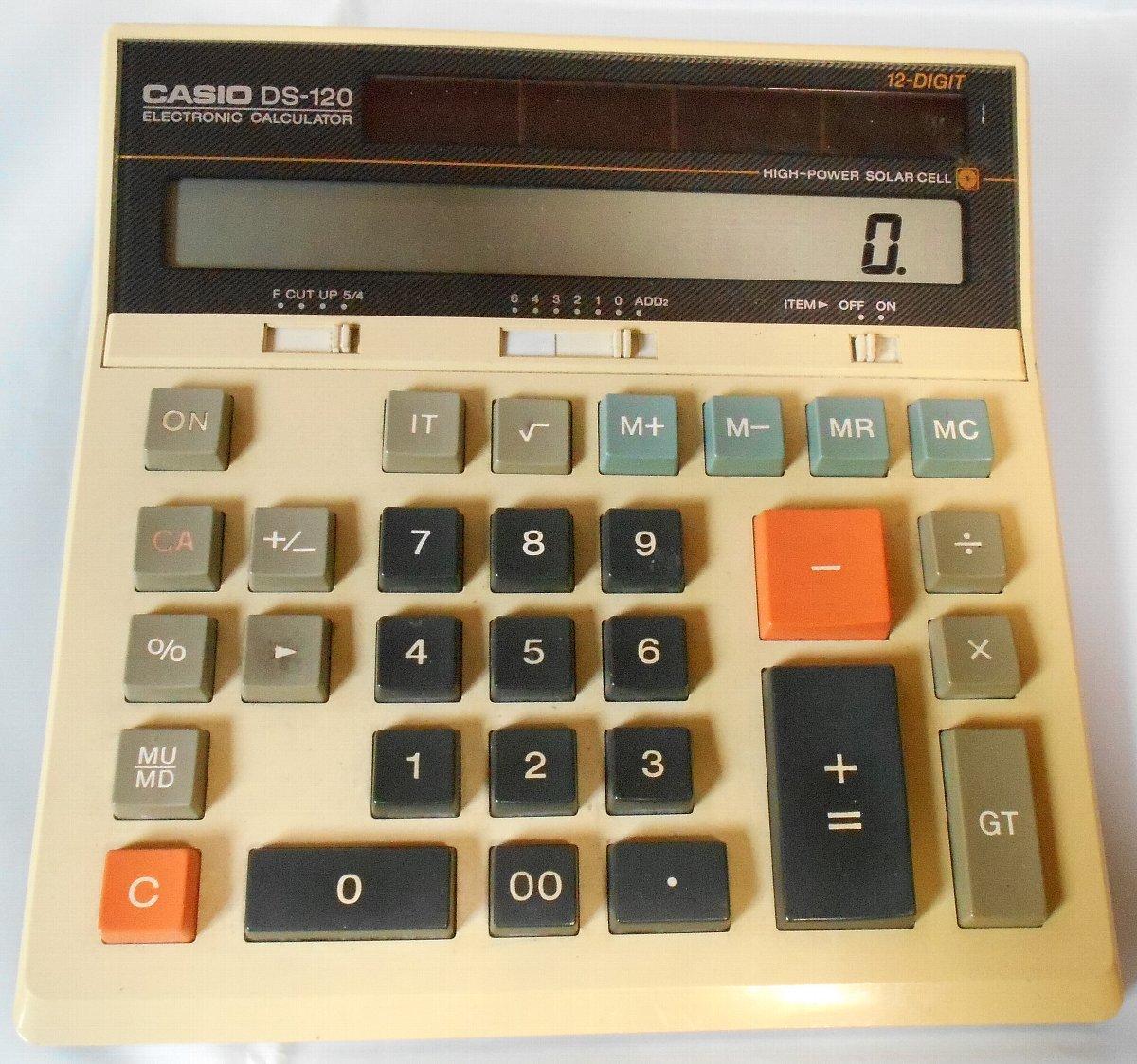 昭和レトロ 加算器方式 電卓/カシオ CASIO DS-120