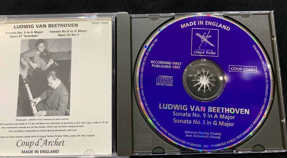 【CD】ヨハンナ・マルツィ ベートーヴェン ヴァイオリン・ソナタ UK盤 COUP CD003_画像3