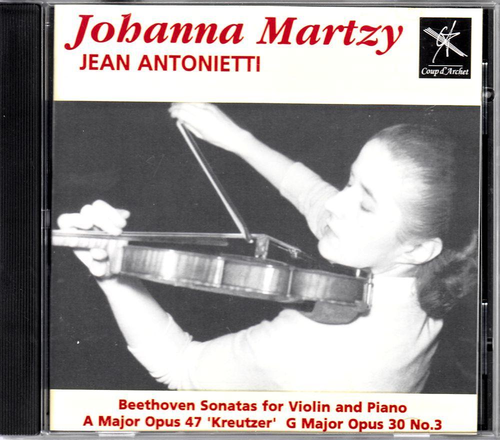【CD】ヨハンナ・マルツィ ベートーヴェン ヴァイオリン・ソナタ UK盤 COUP CD003