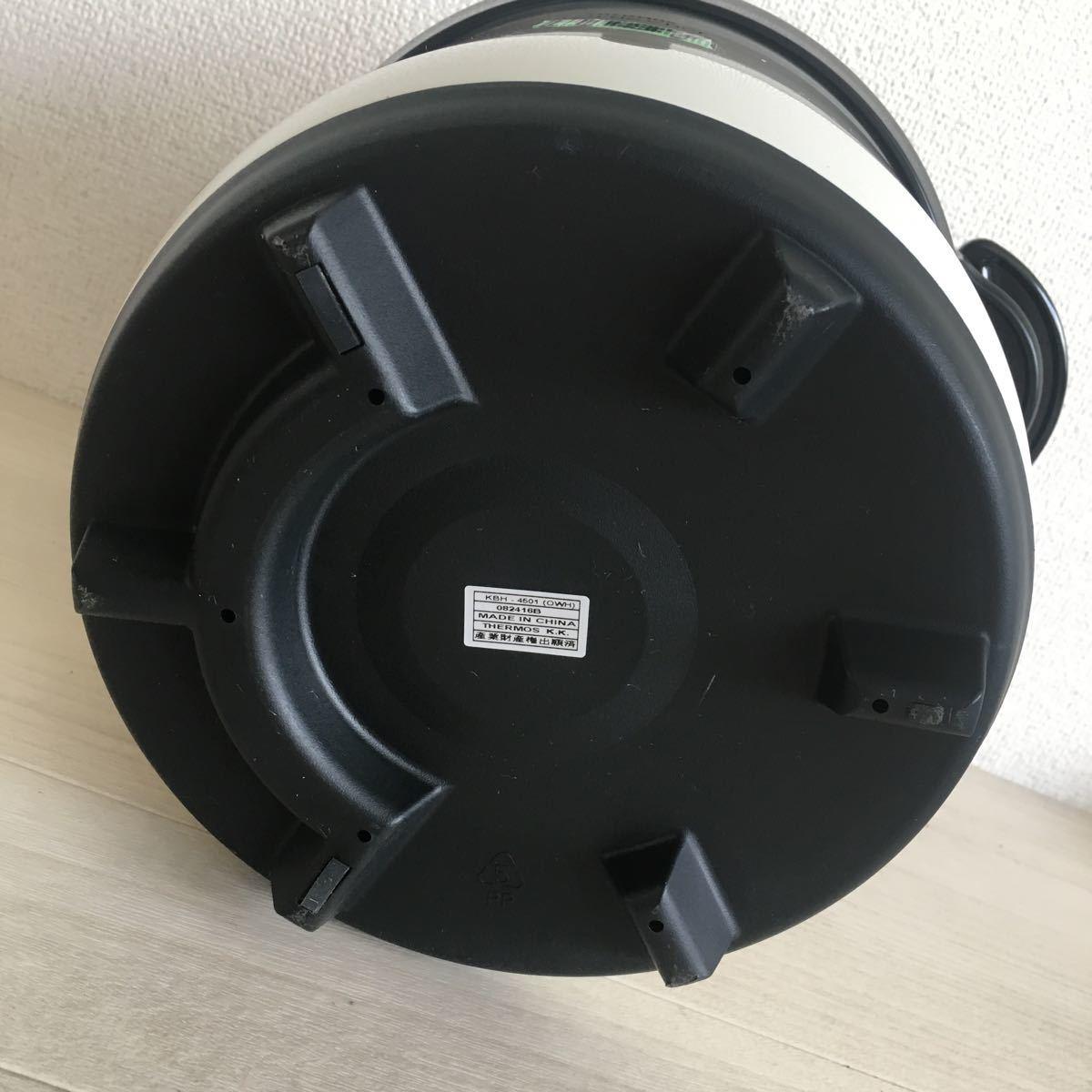 (H187)美品 THERMOS/サーモス 真空保温調理器 シャトルシェフ KBH-4501( OWH)_画像9