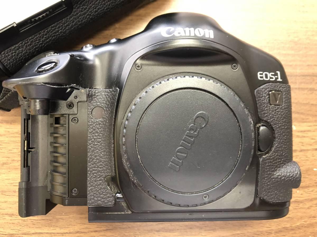 1円スタート キャノン Canon EOS 1V  (PB-E2付)  ボディ