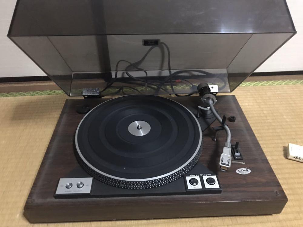 Victor CD-4 ターンテーブル レコードプレーヤー ジャンク。 ターンテーブルは回転しません。_画像1