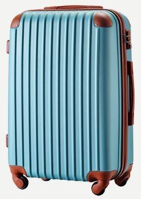 新品同様■スーツケース■TSAロック■超軽量■Lsize■93L■4kg■ターコイズグリーン+ブラウン■AAN