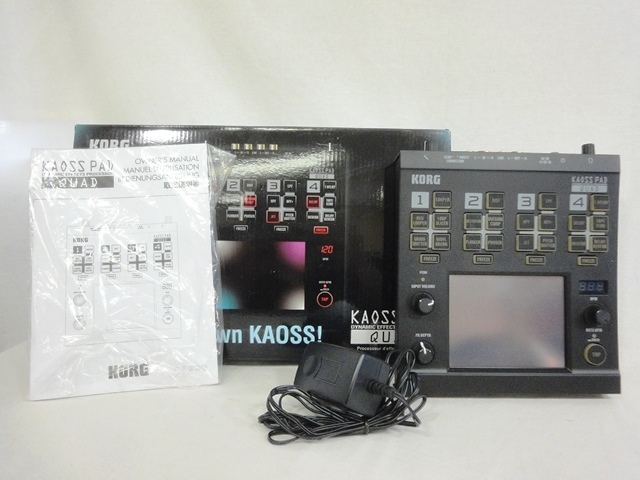 KORG/ Korg KAOSS PAD/ Kaoss Pad KP-QUAD effector / processor /DJ/ dynamic /kwado/ sound equipment / music / tools and materials out box attaching secondhand goods