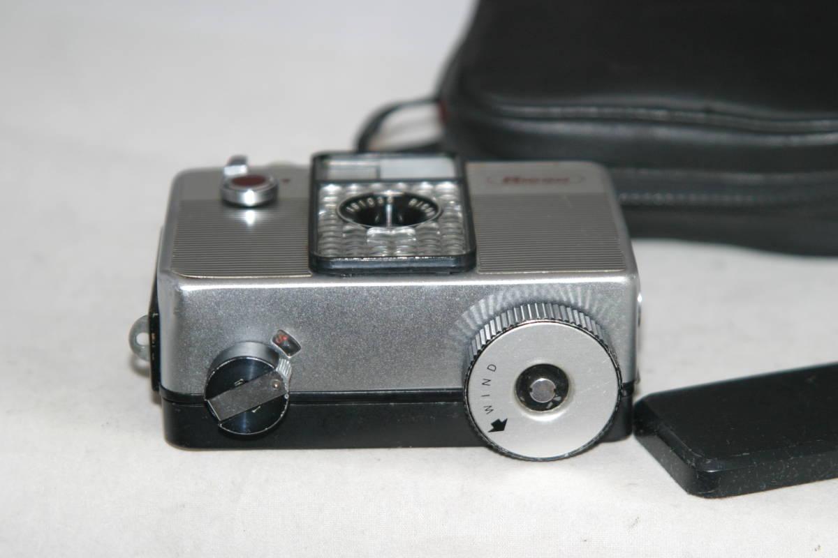 整備済 リコーオートハーフ S 黒縞模様 モルト張替済 キャップ・ケース・ストラップ付_画像5
