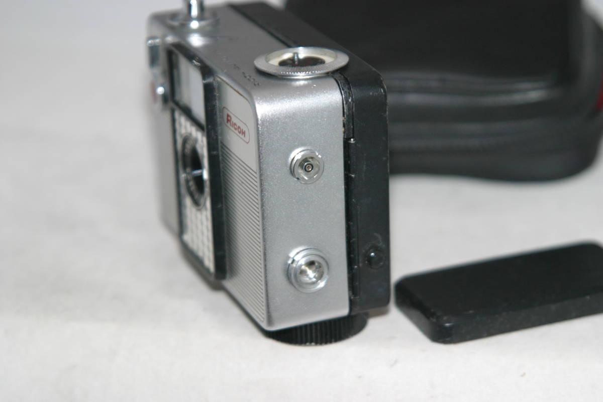 整備済 リコーオートハーフ S 黒縞模様 モルト張替済 キャップ・ケース・ストラップ付_画像6