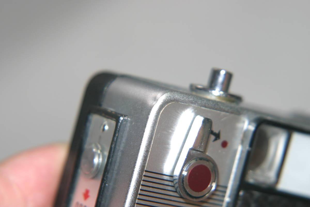 整備済 リコーオートハーフ S 黒縞模様 モルト張替済 キャップ・ケース・ストラップ付_画像9