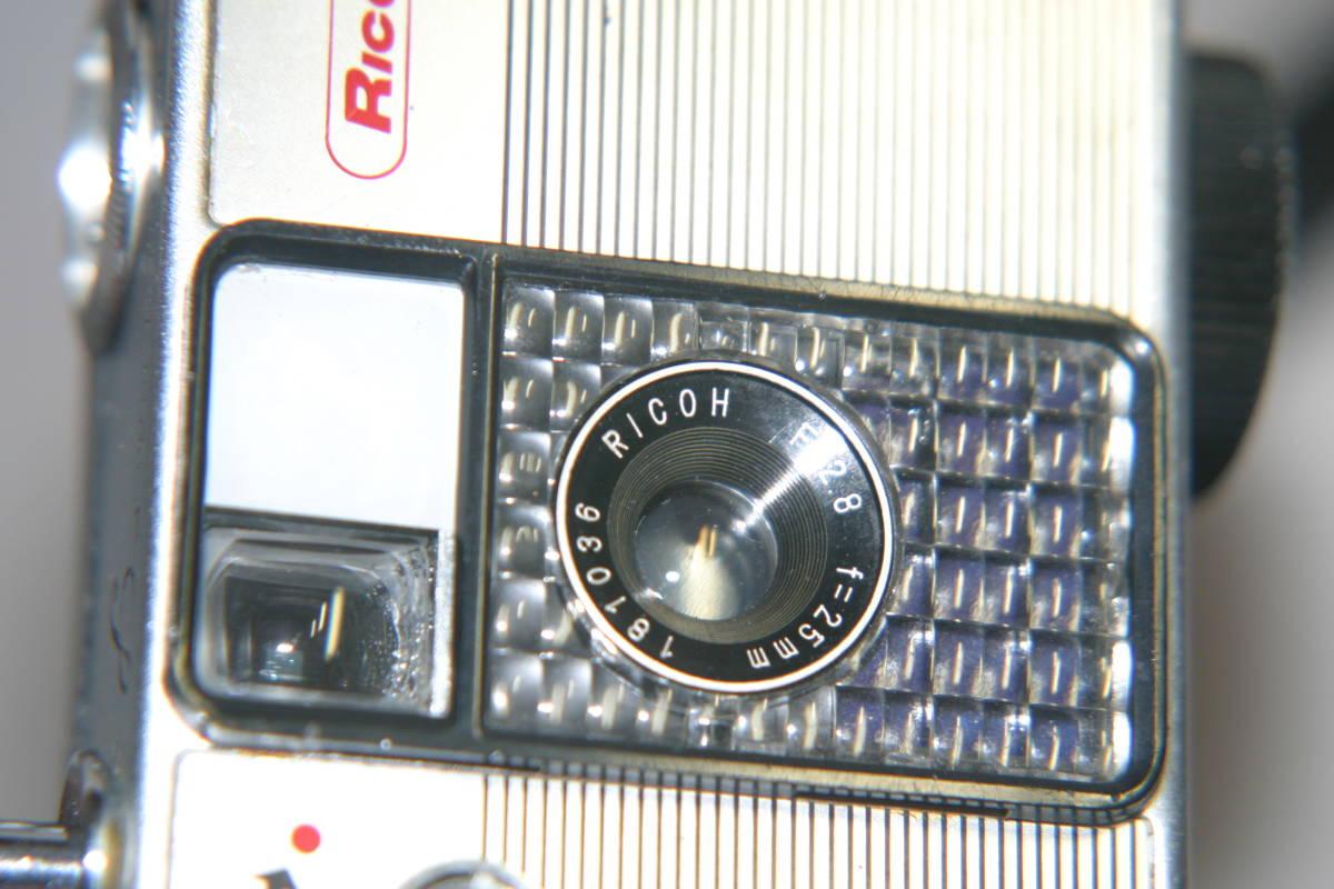 整備済 リコーオートハーフ S 黒縞模様 モルト張替済 キャップ・ケース・ストラップ付_画像8