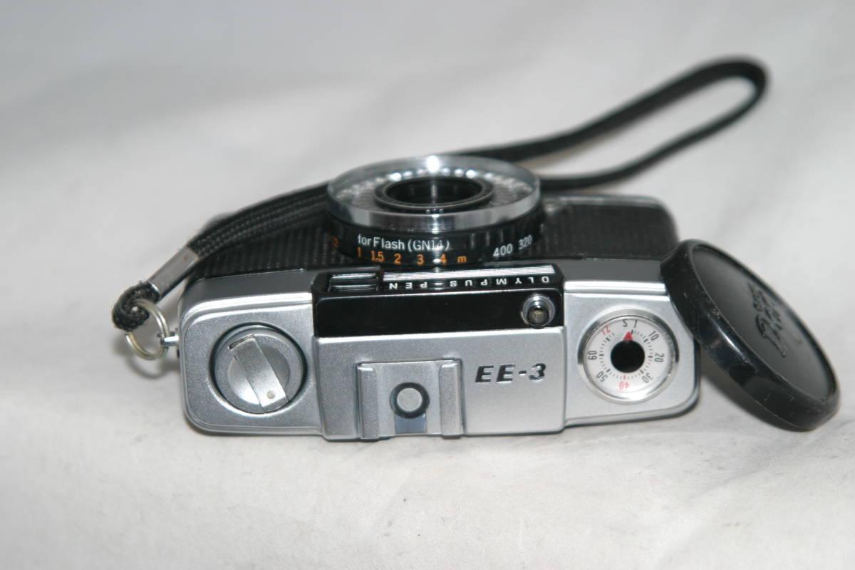 良品 整備済 オリンパスペン EE-3 モルト張替済 レンズキャップ・ストラップ付き_画像2