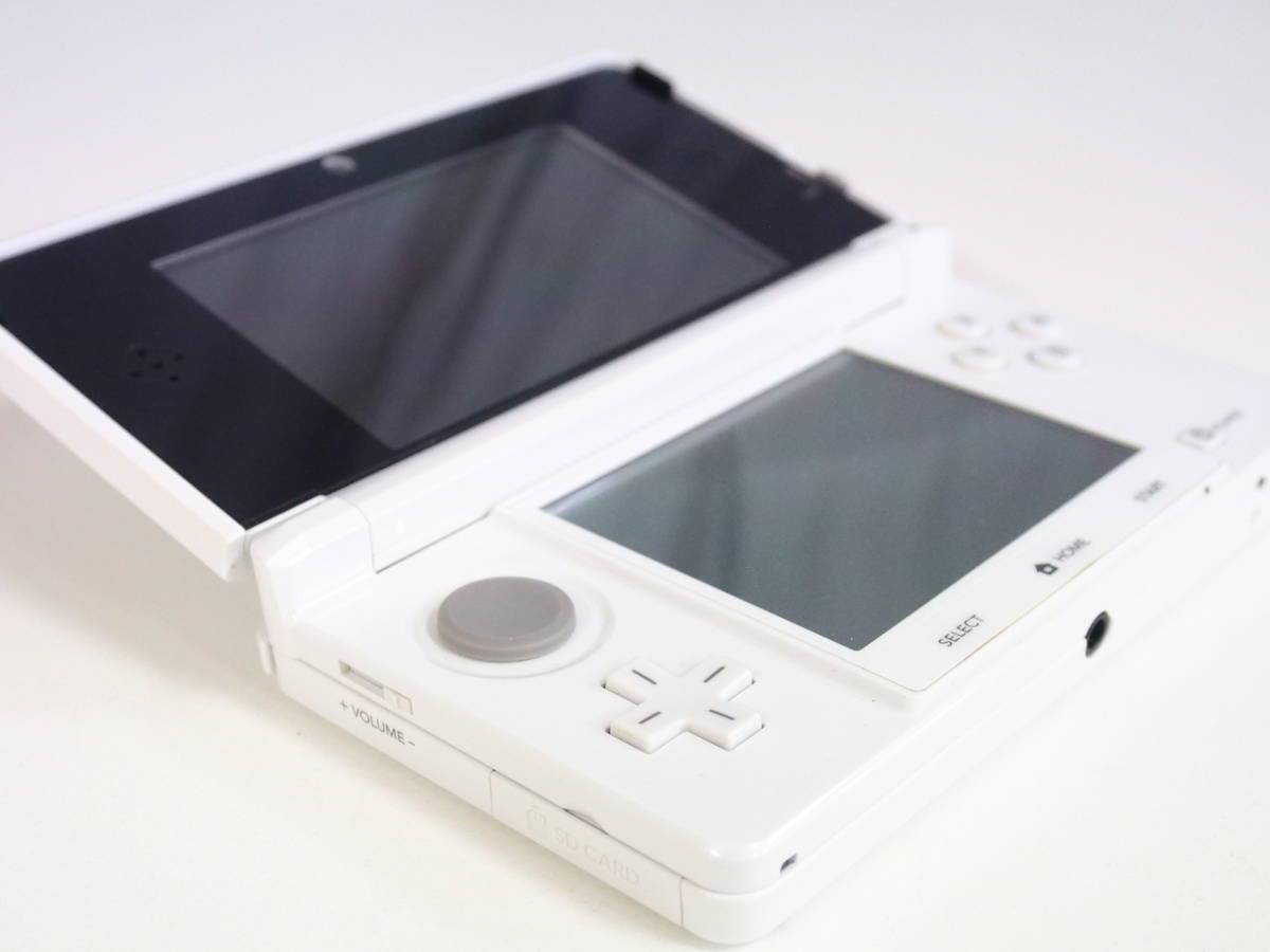 d091/ニンテンドー3DS アイスホワイト/充電器付き/外箱なし/任天堂_画像4