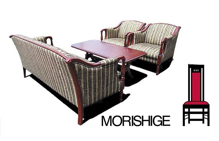モデルルーム展示品 モリシゲ Nスペンサー 3Pソファ+1Pソファ×2+フロ-ラ センタ-テ-