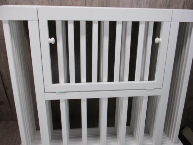 未使用 倉庫品 ハイタイプ ベビーサークル 木製 ジョイント式 高さ70cm 8枚セット 白 ホワイト ベビーフェンス(ペットサークル)_画像2