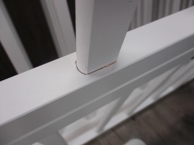 未使用 倉庫品 ハイタイプ ベビーサークル 木製 ジョイント式 高さ70cm 8枚セット 白 ホワイト ベビーフェンス(ペットサークル)_画像8