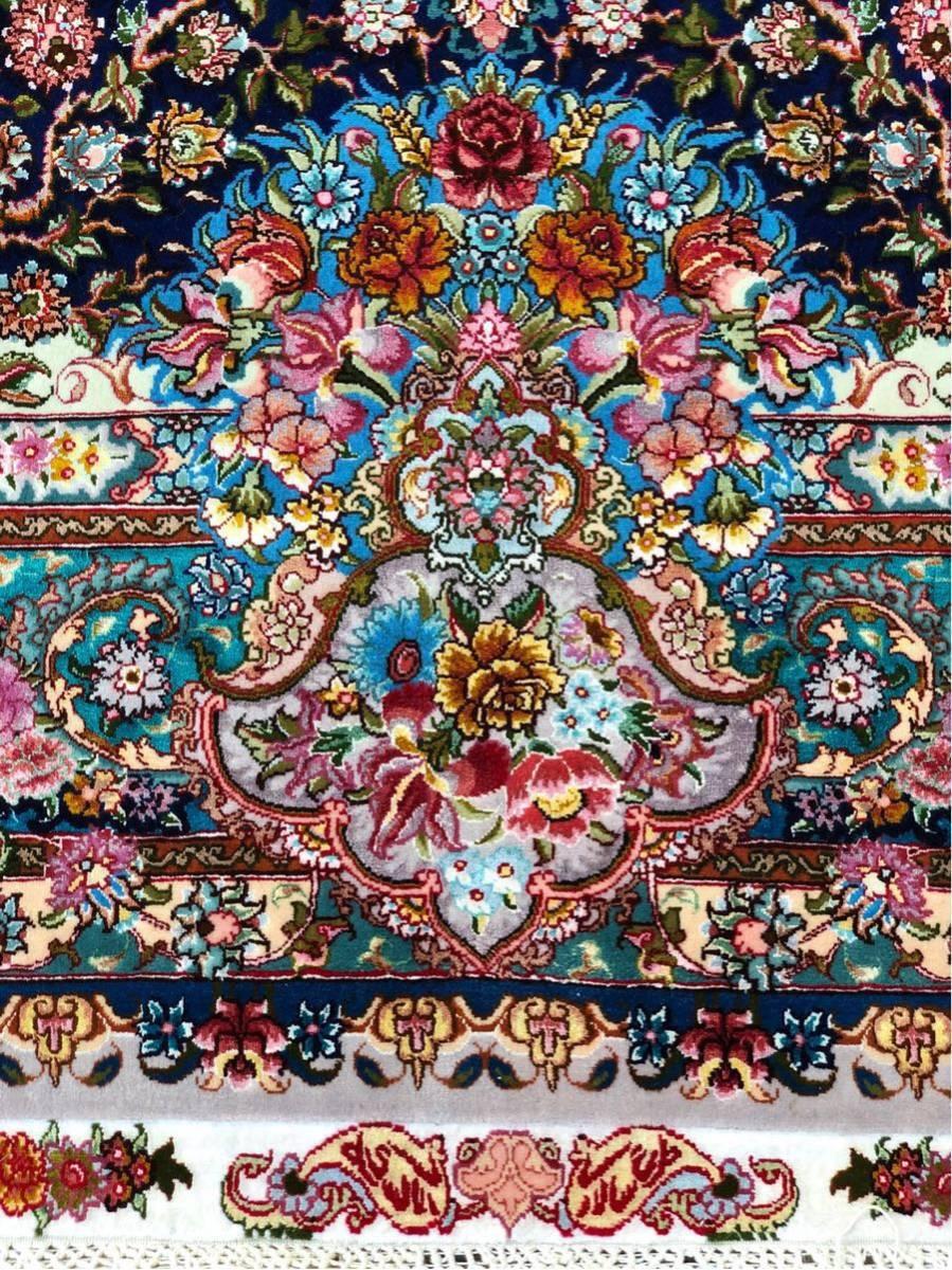 """ペルシャ絨毯 """"傑作""""シルク タブリーズ 315×204cm 60RAJ_画像9"""