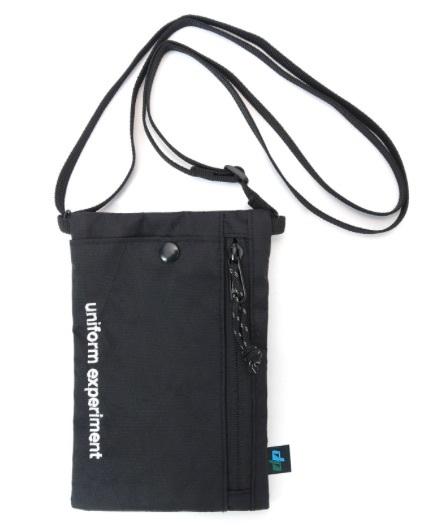 【新品・定価以下開始】uniform experiment 19ss NECK POUCH BLACK ネック ポーチ 黒 UE ユニフォーム エクスペリメント