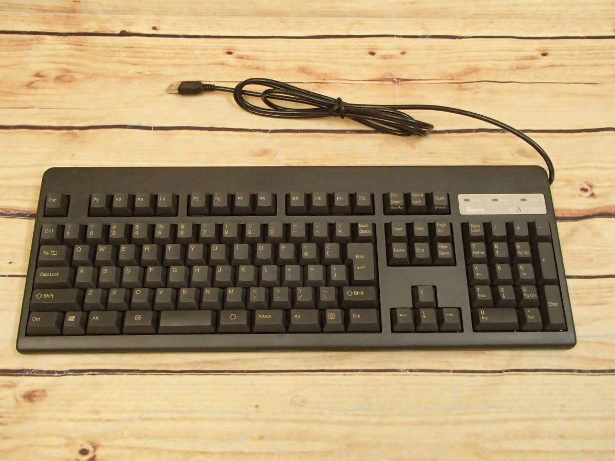 ■東プレ Topre XE01L0 REALFORCE 108UB-A 日本語108配列 黒モデル フルキーボード レーザー印刷 変荷重 DIP付 美品■_画像2