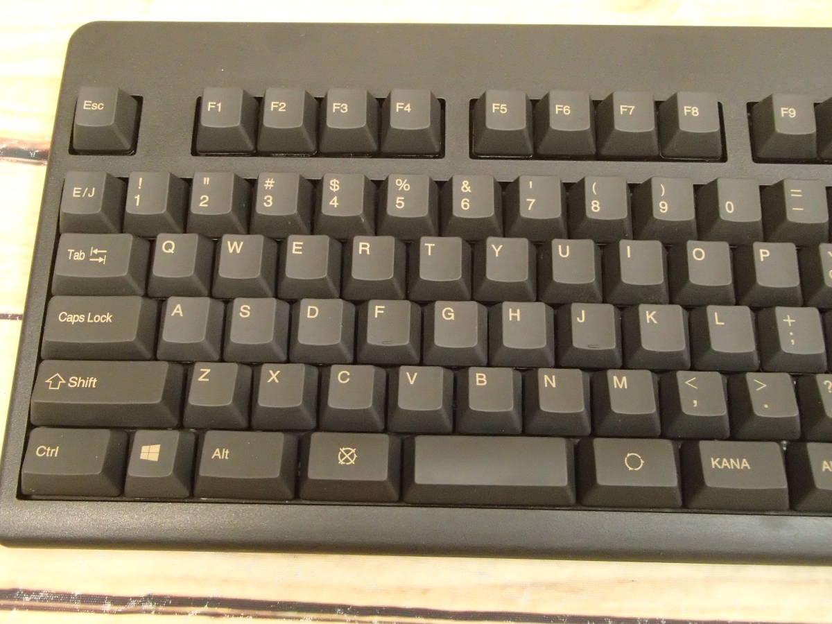 ■東プレ Topre XE01L0 REALFORCE 108UB-A 日本語108配列 黒モデル フルキーボード レーザー印刷 変荷重 DIP付 美品■_画像3