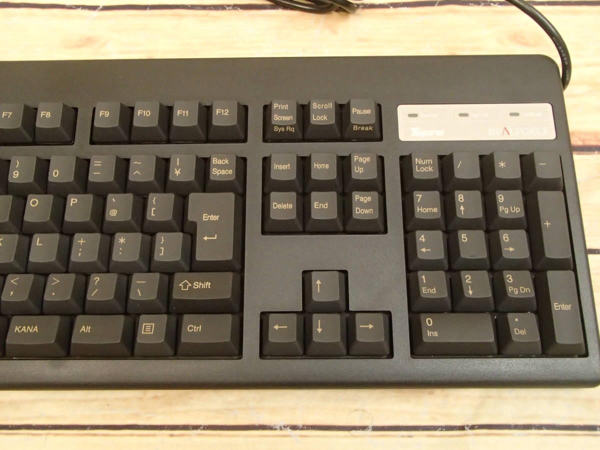 ■東プレ Topre XE01L0 REALFORCE 108UB-A 日本語108配列 黒モデル フルキーボード レーザー印刷 変荷重 DIP付 美品■_画像4