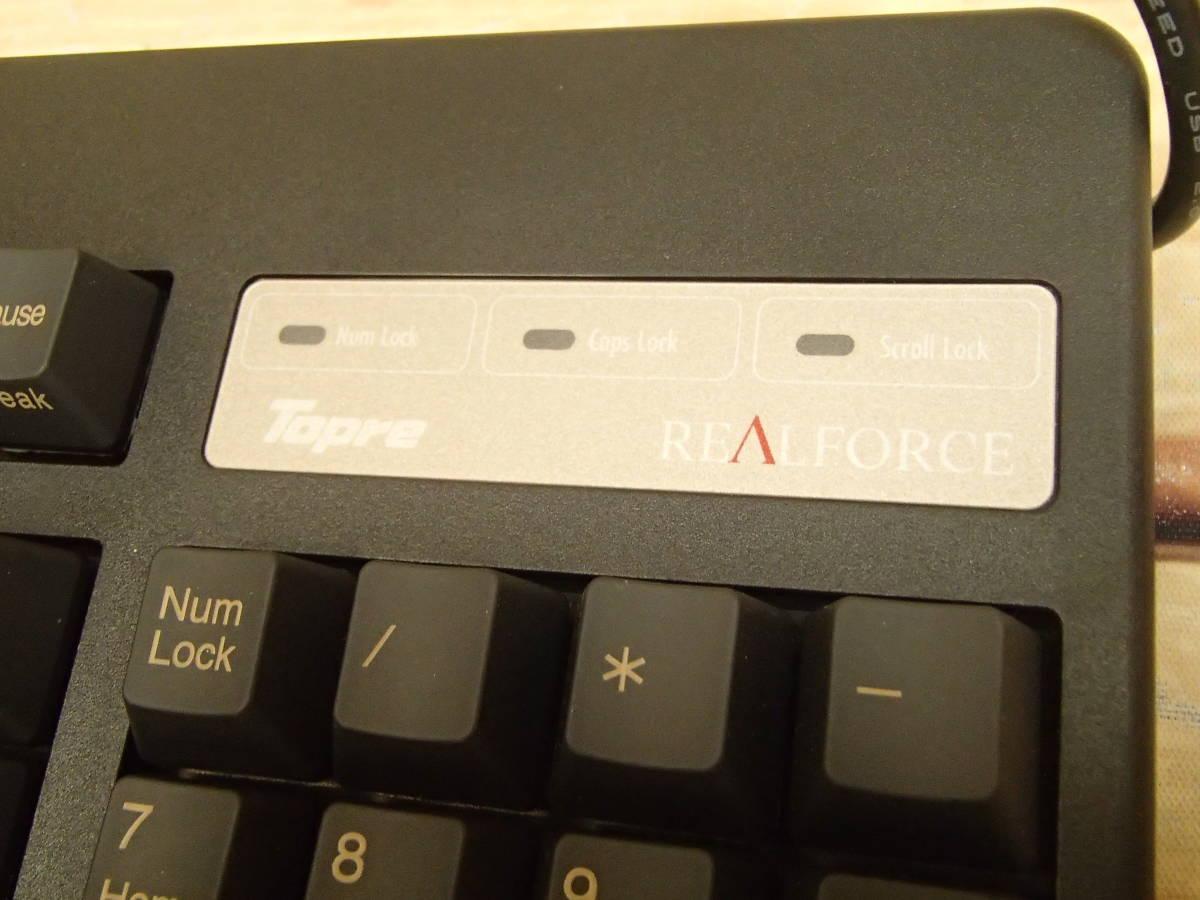 ■東プレ Topre XE01L0 REALFORCE 108UB-A 日本語108配列 黒モデル フルキーボード レーザー印刷 変荷重 DIP付 美品■_画像6