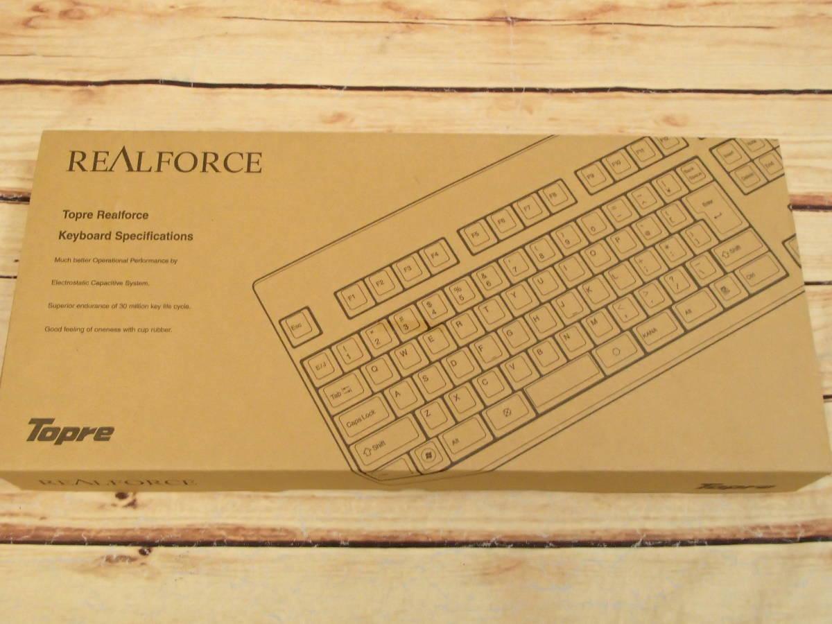 ■東プレ Topre XE01L0 REALFORCE 108UB-A 日本語108配列 黒モデル フルキーボード レーザー印刷 変荷重 DIP付 美品■_画像9