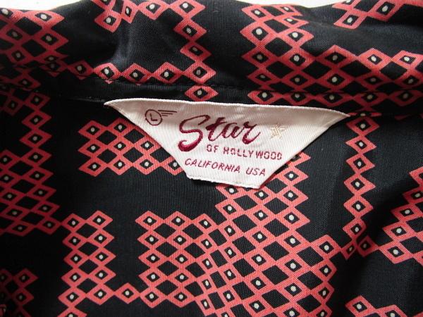 週末限定SALE!!送料210円~!18ss【 STAR OF HOLLYWOOD (スターオブハリウッド) 】総柄 レーヨンシャツ・ size L ・ メンズ _画像5