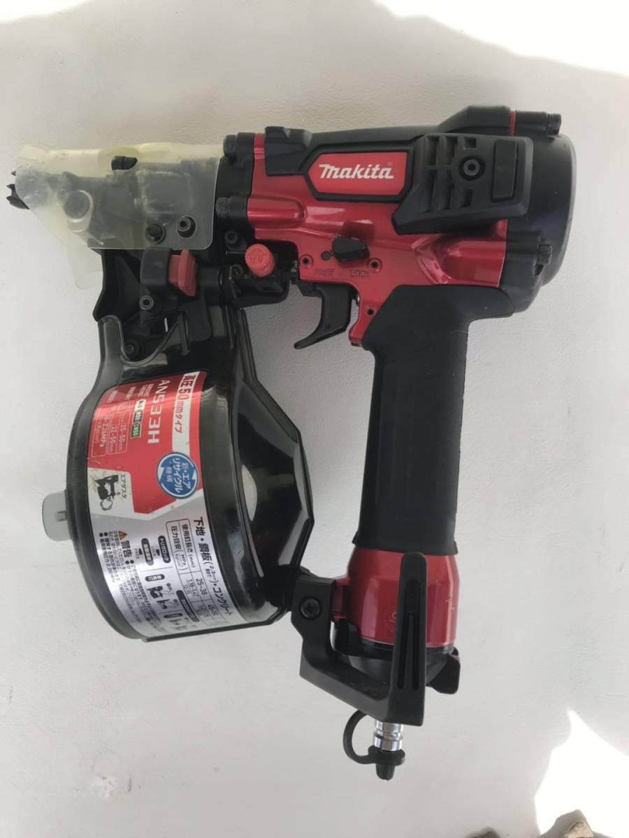 マキタ [makita] 高圧エア釘打 AN533H 50mm N釘 CN釘 コンパクト 赤 レッド 1.18~2.26MPa エアダスタ付 エア工具 DIY /美品_画像3