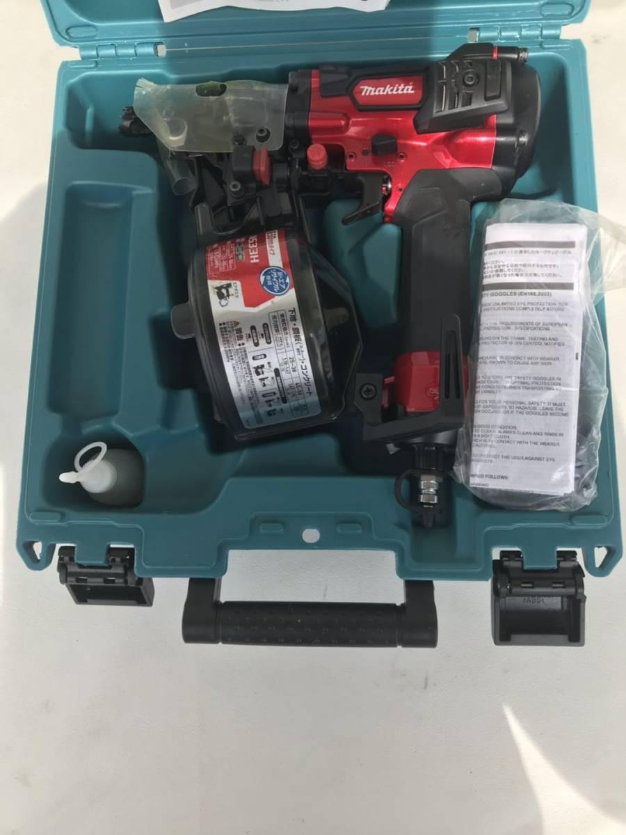 マキタ [makita] 高圧エア釘打 AN533H 50mm N釘 CN釘 コンパクト 赤 レッド 1.18~2.26MPa エアダスタ付 エア工具 DIY /美品_画像2