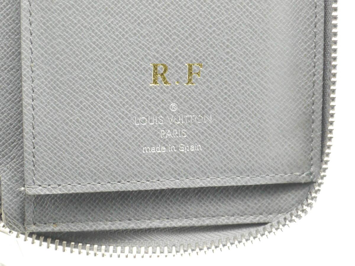 【極美品】1円~ ルイヴィトン Louis Vuitton タイガ ジッピーウォレット ヴェルティカル グラシエ 長財布 メンズ M32601_画像10