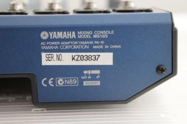 1円 Yamaha ヤマハ 【MG10/2】 Mixing Console Stereo Mixer ミキシングコンソール ステレオミキサー 最落なし_画像8