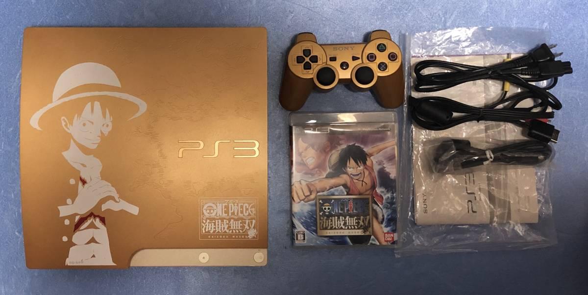 1円~ PS3 プレステ3 動作良好品 ONE PIECE ワンピース 海賊無双 GOLD EDITION CECH-3000B 320GB 付属品完備_画像2