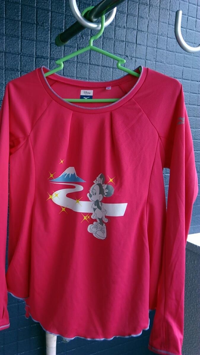 ===⇒最終値下げ![送料無料!]A300【Disney SPORT Mizuno コラボ】レディース 速乾素材 ロングシャツ Sサイズ 袖に親指入れあり
