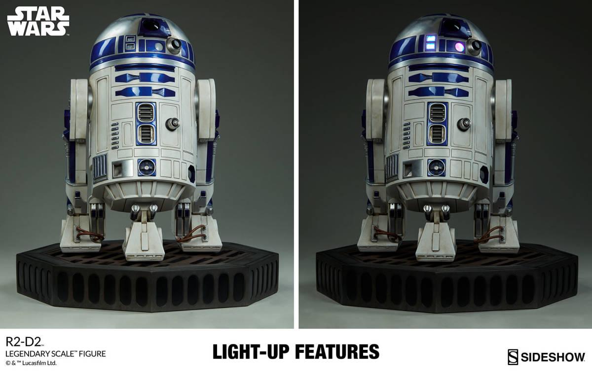 【玩具模型】SIDESHOW LEGENDARY SCALE STAR WARS R2-D2 サイドショウスターウォーズR2-D2 人気樹脂模型限定版コレクション1:2スケール R44_画像9