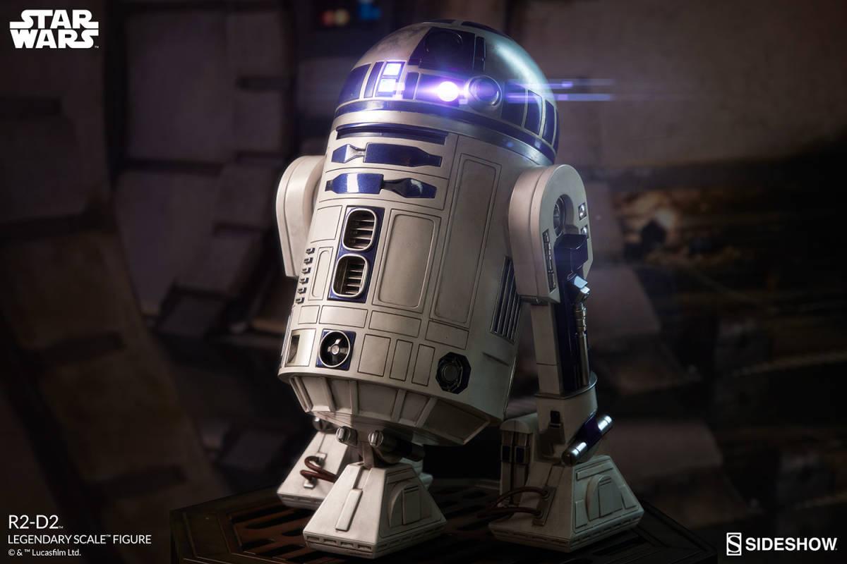 【玩具模型】SIDESHOW LEGENDARY SCALE STAR WARS R2-D2 サイドショウスターウォーズR2-D2 人気樹脂模型限定版コレクション1:2スケール R44_画像6
