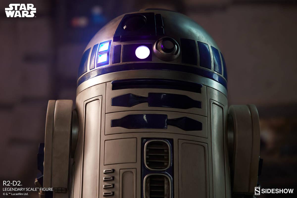 【玩具模型】SIDESHOW LEGENDARY SCALE STAR WARS R2-D2 サイドショウスターウォーズR2-D2 人気樹脂模型限定版コレクション1:2スケール R44_画像7