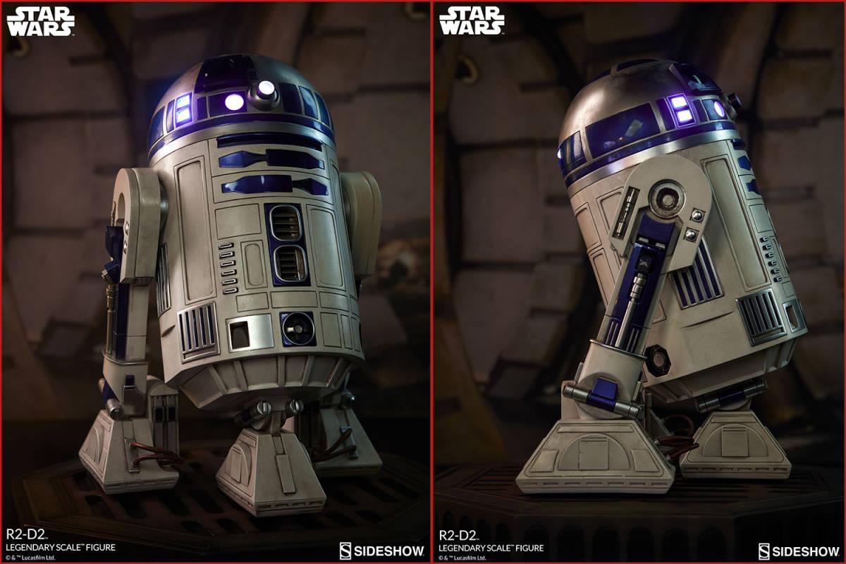 【玩具模型】SIDESHOW LEGENDARY SCALE STAR WARS R2-D2 サイドショウスターウォーズR2-D2 人気樹脂模型限定版コレクション1:2スケール R44_画像8