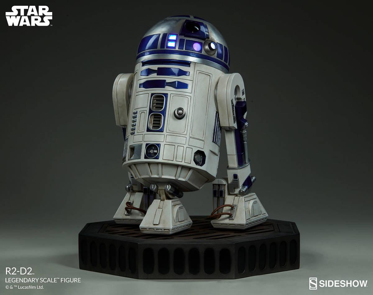 【玩具模型】SIDESHOW LEGENDARY SCALE STAR WARS R2-D2 サイドショウスターウォーズR2-D2 人気樹脂模型限定版コレクション1:2スケール R44_画像3
