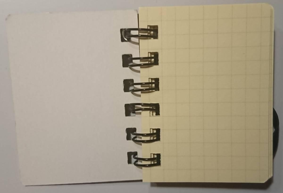 即決 ミニチュア文具 ストラップ付 mini Rollbahn ロルバーン ノート(6.5㎝×4.9㎝ビニールポケットも再現)未使用保管品_画像4