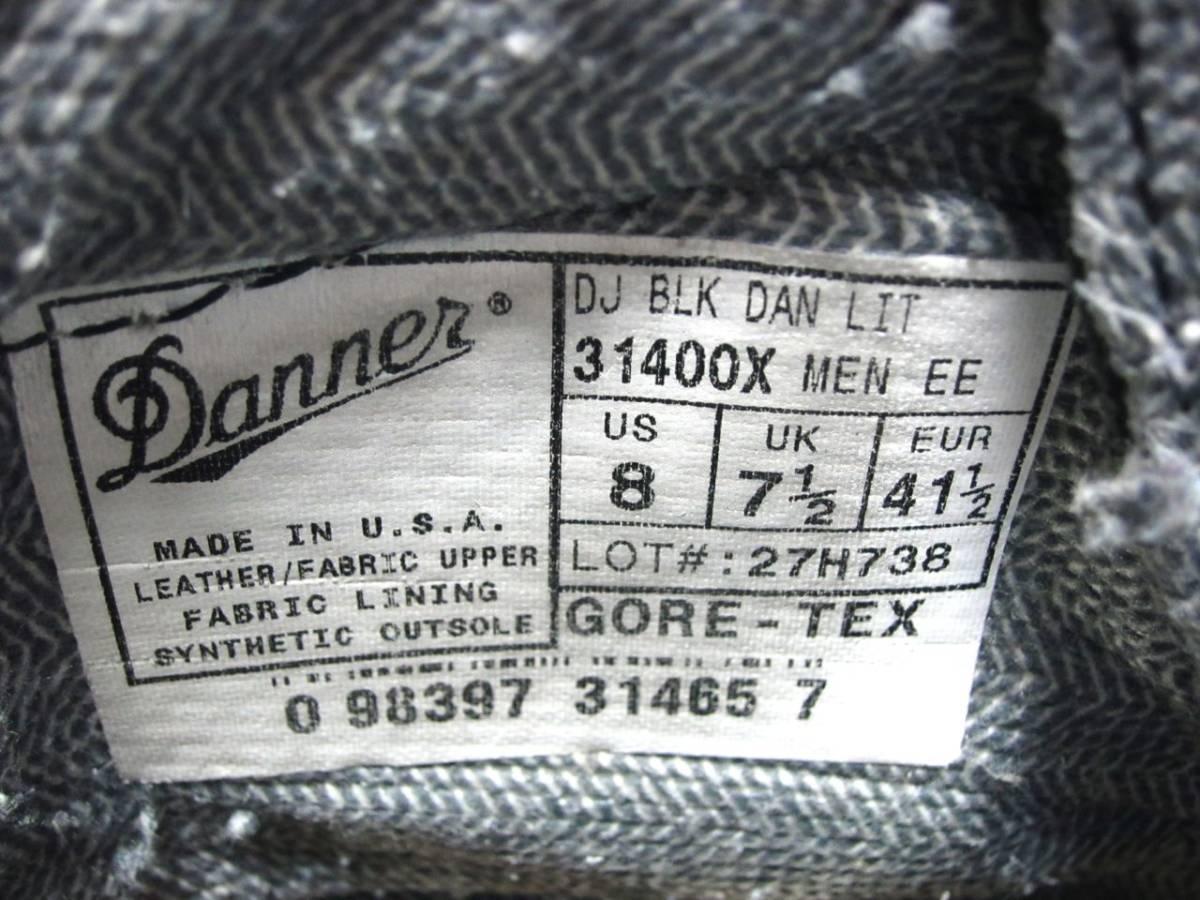 DANNER ダナー DANNER LIGHT ダナーライト マウンテン トレッキング ブーツ 黒 ブラック 26cm 31400X 白タグ USA製 ゴアテックス GORE-TEX_画像8