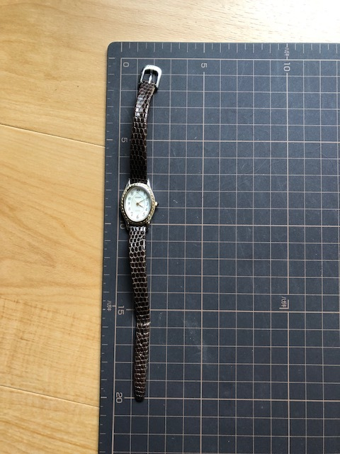 KK54 本体良品 レア CITIZEN/シチズン EXCEED エクシード シェル文字盤 コンビカラー クオーツ レディース 腕時計_画像3